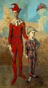 Pablo Picasso - Acrobat and young harlequin