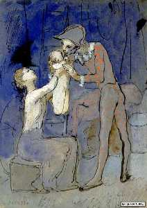 Pablo Picasso - Harlequin-s family