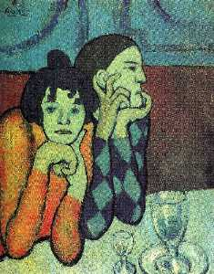 Pablo Picasso - Two acrobats (Harlequin and his companion)