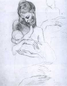 Pablo Picasso - Mother and child (study)