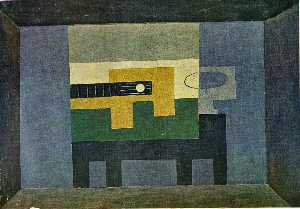 Pablo Picasso - Guitar and jug on a table