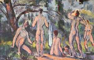 Paul Cezanne - Study of Bathers