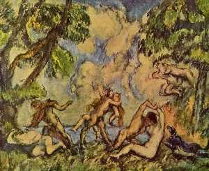 Paul Cezanne - Bacchanalia. The Battle of Love