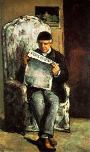 Paul Cezanne - The Artist-s Father Reading his Newspaper