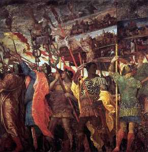 Andrea Mantegna - The Triumphs of Caesar: Trumpeters and Standard-Bearer