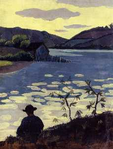 Paul Serusier - Fisherman on the Laita