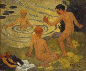 Paul Serusier - Boys on a River Bank