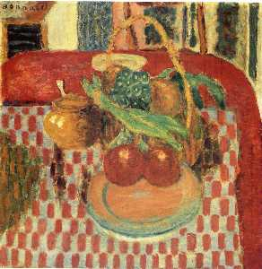 Pierre Bonnard - Basket and Plate of Fruit..