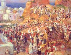 Pierre-Auguste Renoir - The Mosque Arab Holiday (The Casbah)