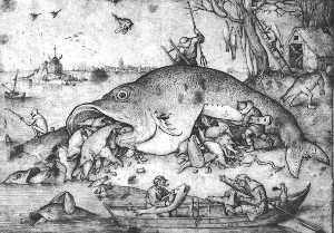 Pieter Bruegel The Elder - Big fishes eat small fishes