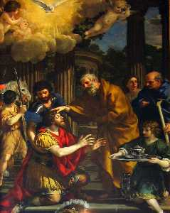 Pietro Da Cortona - Ananias restoring the sight of..