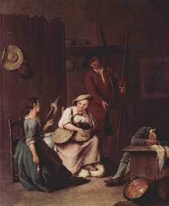 Pietro Longhi - The hunters and the farmers