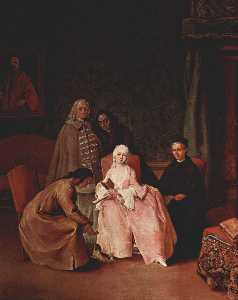 Pietro Longhi - A Visit to a Lady