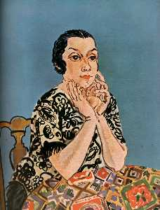 Raoul Dufy - Portrait of Mrs. Dufy