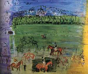 Raoul Dufy - The Racecourse of Deauvil..