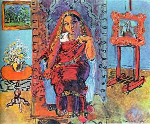 Raoul Dufy - Interior with Indian Woma..