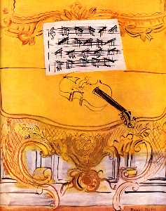 Raoul Dufy - The Yellow Console with a..