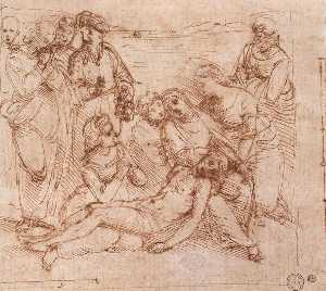 Raphael (Raffaello Sanzio Da Urbino) - Lamentation over the Dead Christ