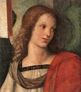 Raphael (Raffaello Sanzio Da Urbino) - Angel (fragment of the Baronci altarpiece)