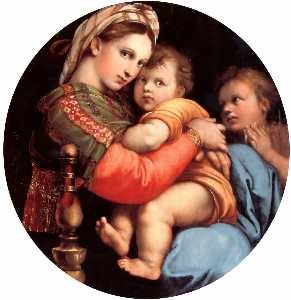 Raphael (Raffaello Sanzio Da Urbino) - The Madonna of the Chair