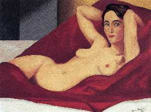 Rene Magritte - Reclining nude