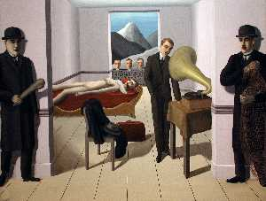 Rene Magritte - The Menaced Assassin
