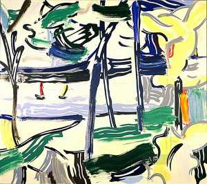 Roy Lichtenstein - Sailboats through the trees