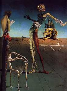 Salvador Dali - Woman with a Head of Rose..