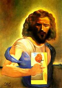 Salvador Dali - The Sacred Heart of Jesus