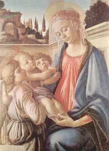 Sandro Botticelli - Madonna with two angels