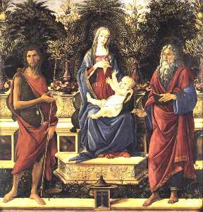 Sandro Botticelli - The Virgin and Child Enthroned