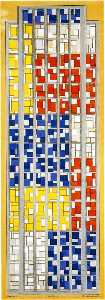 Theo Van Doesburg - Design for Stained Glass Composition XIII