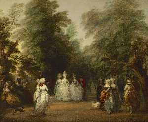 Thomas Gainsborough - The Mall in St. James's P..