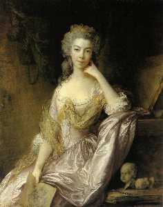 Thomas Gainsborough - Portrait of Mrs. Drummond
