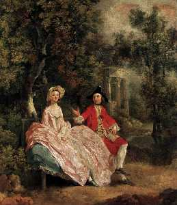 Thomas Gainsborough - Conversation in a Park