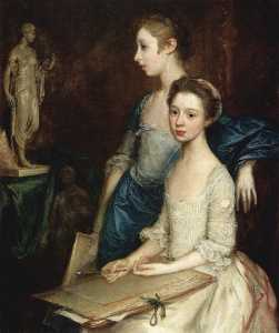 Thomas Gainsborough - Portrait of the Molly and Peggy