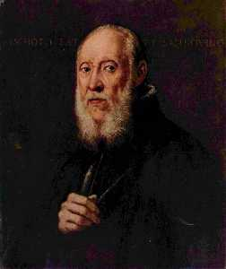 Tintoretto (Jacopo Comin) - Portrait of the sculptor Jacopo Sansovino