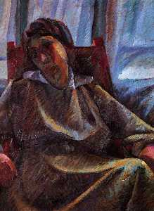Umberto Boccioni - Plastic synthesis - seated person