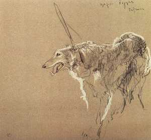 Valentin Alexandrovich Serov - Greyhound royal hunting