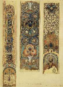 Victor Vasnetsov - Sketches of ornaments painted Vladimir Cathedral