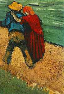 Vincent Van Gogh - Two Lovers, Arles (Fragment)