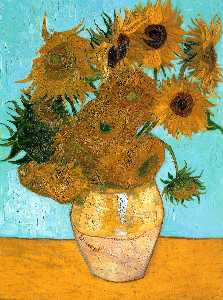 Vincent Van Gogh - Still Life - Vase with Twelve Sunflowers