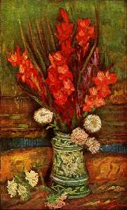Vincent Van Gogh - Still LIfe - Vase with Red Gladiolas