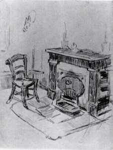 Vincent Van Gogh - Mantelpiece with Chair