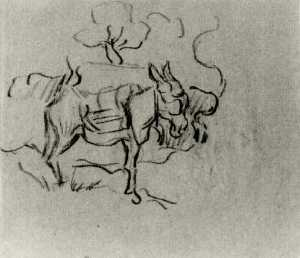 Vincent Van Gogh - Sketch of a Donkey