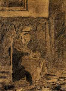 Vincent Van Gogh - Old Woman Asleep after Rops