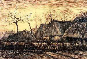 Vincent Van Gogh - Houses with Thatched Roofs