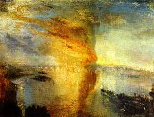 William Turner - The Burning of the Houses..