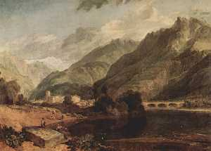 William Turner - Bonneville, Savoy with Mo..