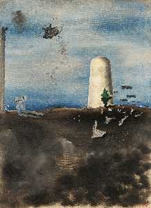 Yves Tanguy - Death Awaiting his Family